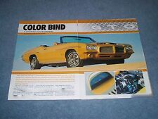 """1971 Pontiac GTO Convertible 455 Article """"Color Blind"""""""