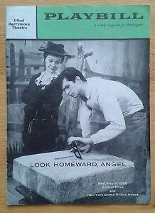 Look Homeward, Angel Playbill programme Ethel Barrymore Theatre 1958 Ed Begley