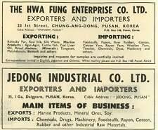 1953 Hwa Fung Enterprise Pusan Jedong Industrial Korea Ad