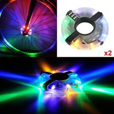 2x Colorful Flash Bicycle Bike Cycling Tire 8 LED Wheel Spoke Light Lamp 3 Modes