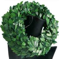 Silk Wreath Green Leaf Iron Wire Artificial Vine Wedding W2F1 Decor Gift J2T1