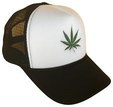 Medical Recreational Marijuana Green Leaf Classic Mesh Trucker Cap Caps Hat Hat
