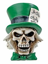 """THE HATTER Skull Figurine, Mad Hatter Day 10/6, 3"""" Tall, Resin, Superb Detail!"""