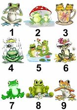 Frog Large Sticky White Paper Stickers Labels New