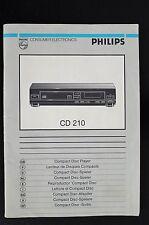 Philips CD-210 ORIGINALE LETTORE CD istruzioni d'USO / istruzioni d'uso