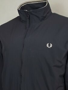 Fred Perry   Tipped Brentham Bomber Jacket L (Black) Mod Scooter Terraces 60s