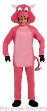 Hombre Mujer Rosa Cerdita Cerdo Lechón Animal De Granja Disfraz Grande