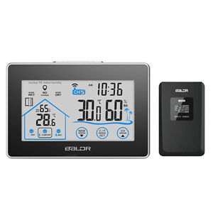 BALDR B0317 Touch Button Thermometer In/Outdoor Weather station Humidity Display