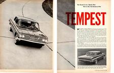 1962 PONTIAC TEMPEST ~ ORIGINAL 6-PAGE ARTICLE / AD