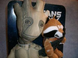 Groot & Rocket SDCC 2015 Guardians of the Galaxy Exclusive Plush Marvel New