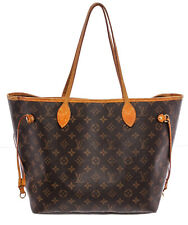 Louis Vuitton Monogram Canvas Leather Neverfull MM Tote Bag