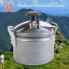 3L Portable Aluminium Pressure Rice Cooker Stovetop Cooking Pot Outdoor