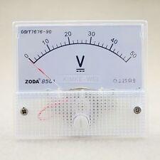DC 0-50V Analog Volt Voltage Panel Meter Voltmeter Gauge