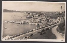 Postcard Plymouth Hoe and Pool from Citadel in Devon posted 1951 RP Photochrom