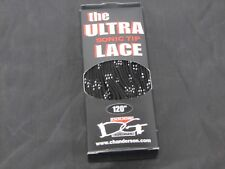 120in Sonic Tip Hockey Skate laces black with White runner
