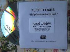 Fleet Foxes – Helplessness Blues  BELLA UNION Promo UK CDr Single