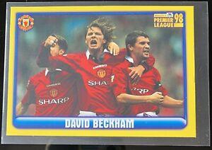 DAVID BECKHAM MANCHESTER UNITED Merlin Premier League Sticker 1998 98 #257