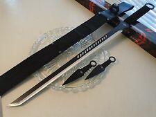 "Fantasy Master Defender Tanto Sword Throwing Knife Kunai 3 Pc Set 644T 27"" OA"