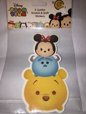 Disney Tsum Tsum Set Of 2 Jumbo Scratch & Sniff Stickers Minnie Mouse & Pooh New