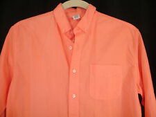 Fresh Produce Mens Small Sunkissed Orange Cotton Long Sleeve Button Down Shirt