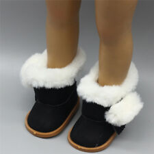 Women Winter Furry Lace Up Matte Platform Flat Short Mid-Calf Snow Boots Warm