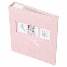 Baby Girl Pink White Polka Dot Photo Album 200 Photographs 6x4 Picture Book Boy