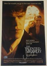 Matt Damon The Talented Mr Ripley Signed 12X18 Photo Autograph Beckett Coa