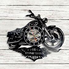"12"" Harley Davidson Moto Vinyl Records Wall Clock Perfect Gift Birthday Xmas"