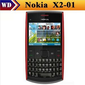 Unlocked Nokia X2-01 Symbian OS Mp3 Mp4 Player Cellphone QWERTY Keyboard