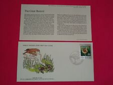 1977 WWF The Great Bustard Bird Poland Official FDC Cover