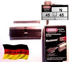 Cylindre porte barillet serrure ABUS EC 850 45/45 haute sécurité maximum 3 clés