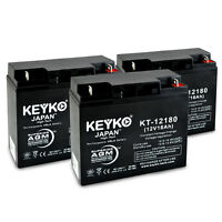 12V 18Ah Sealed Lead Acid Replacement rechargeable Battery KEYKO ® AGM (L1) 3PK