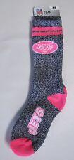 New York Jets Crew Socks Medium Size 5 to 10 Melange Pink