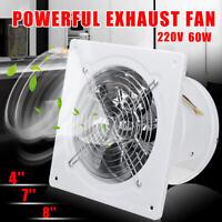 4/7/8'' High Speed Exhaust Fan Ventilation Extractor For Kitchen Bathroom  S