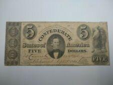 1861 C.S.A. $5 Type 34 Wtmk Paper Csa Block