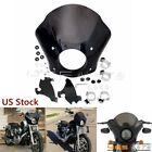 For Harley Softail Street XG500 750 1986-2020 Headlight Gauntlet Front Fairing