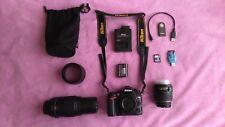 Nikon D7000 16.2 MP DSLR Camera 18-105mm & 55-300mm Bundle.
