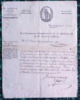 LETTRE FERAUD 1800 DIJON JACOBINS RÉVOLUTION FRANCAISE BREVET MILITAIRE ARMÉE