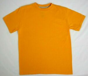 Boys  Volcom T-shirt M Medium 12 Orange Solid 100% Cotton Short Sleeve