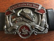 """This Buds For You"" Vintage Original Dixie Budweiser Buckle & Belt"