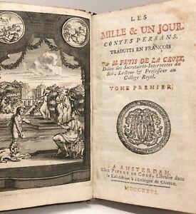 CONTES PERSANS Mille et un jour PETIS DE LA CROIX 5 vol XVIIIe ill. ORIENTALISME