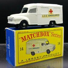Matchbox Lesney Series No14c Bedford Lomas Ambulance. 1962 Issue. VNMIB