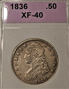 1836 Capped Bust Half Dollar, STRONG DETAILS ++Discounted Bargain