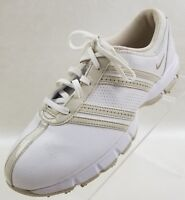 Nike Golf Delight White Beige Lace Up Womens Shoes Size 8.5