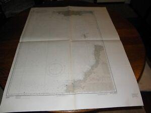 Vintage US Navy Nautical Chart ,ENGLAND-WEST COAST