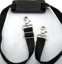 Dakota Shoulder Replacement Strap Black Stainless Steel Swivel Buckles 48 Inch
