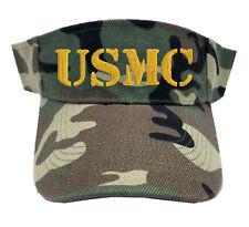 USMC MARINE TEXT CAMO CAMOUFLAGE SUN VISOR MILITARY LAW ENFORCEMENT