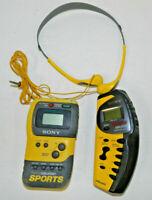 2 SONY Walkman  MDR- W14 FM/AM Stereo Radio SRF-M73 M70 Sport Heaphones LOT