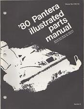1980 Arctic Cat Snowmobile Pantera P/N 0185-154 Parts Manual (601)