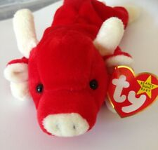 Vintage Ty retired collectable Snort the red bull beanie baby vgc with tag